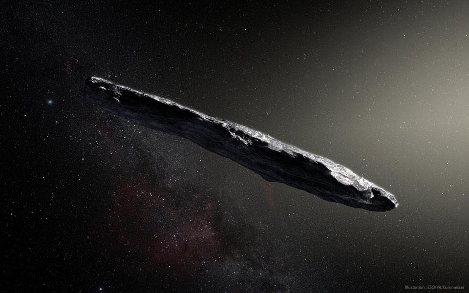 Oumuamua. Est-ce qu\'il a une gueule de voile solaire ? L\'hypothèse d\'étron de diplodocus géant de l\'espace nous paraît beaucoup plus crédible. On peut même vous fournir le détail des calculs si vous voulez...