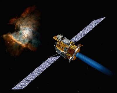 Deep Space 1 accélérant plein gaz. Une des sondes spatiales les plus intelligentes jamais lancées. On achève bien les robots.