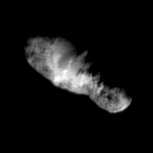 La surface de la comète Borrelly vue par la caméra MICAS à bord de Deep Space 1