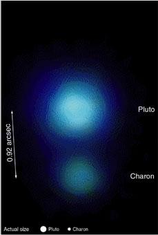 Pluton et son satellite Charon vus par le télescope Japonais Subaru