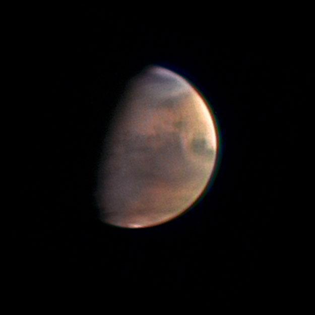 Mars vue sous un angle inhabituel par Mars Express