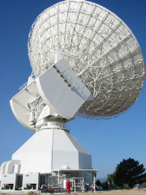 L\'antenne de 35 mètres de diamètre de Cebreros (Espagne)