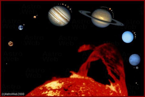 Les planètes ne sont en fait qu\'un résidu de la nébuleuse de poussières et de gaz au milieu de laquelle le Soleil s\'est condensé. Ce dernier concentre en effet 99,85% de la masse du système solaire.