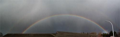 Un arc-en-ciel est une façon très esthétique de voir les photons rangés par énergie croissante (du rouge au bleu).