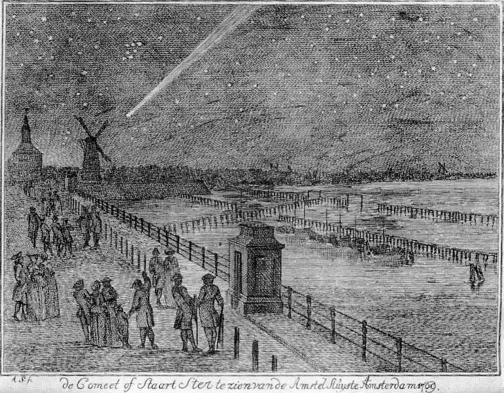 La grande comète de 1769 au-dessus d\'Amsterdam