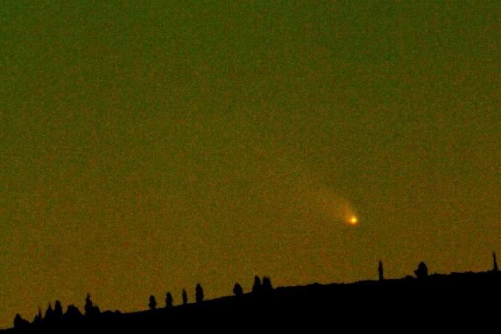 La comète PanSTARRS vue le 9 mars au soir dans le Nevada.