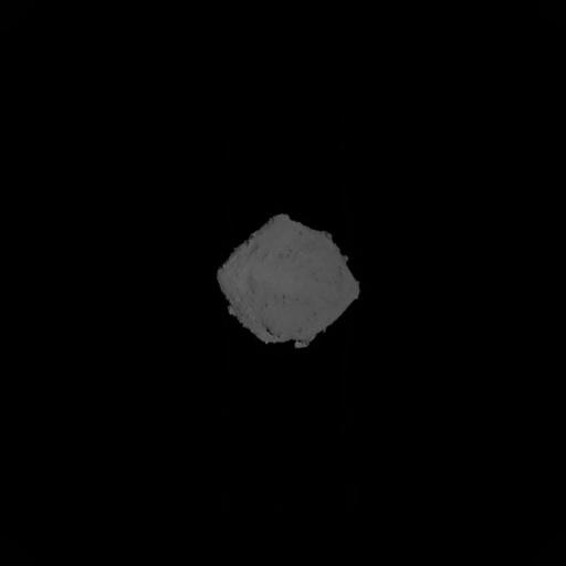 L\'astéroïde Ryugu, vu par Hayabusa-2 6 heures avant l\'impact
