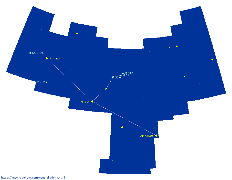 Constellation d\'Andromède
