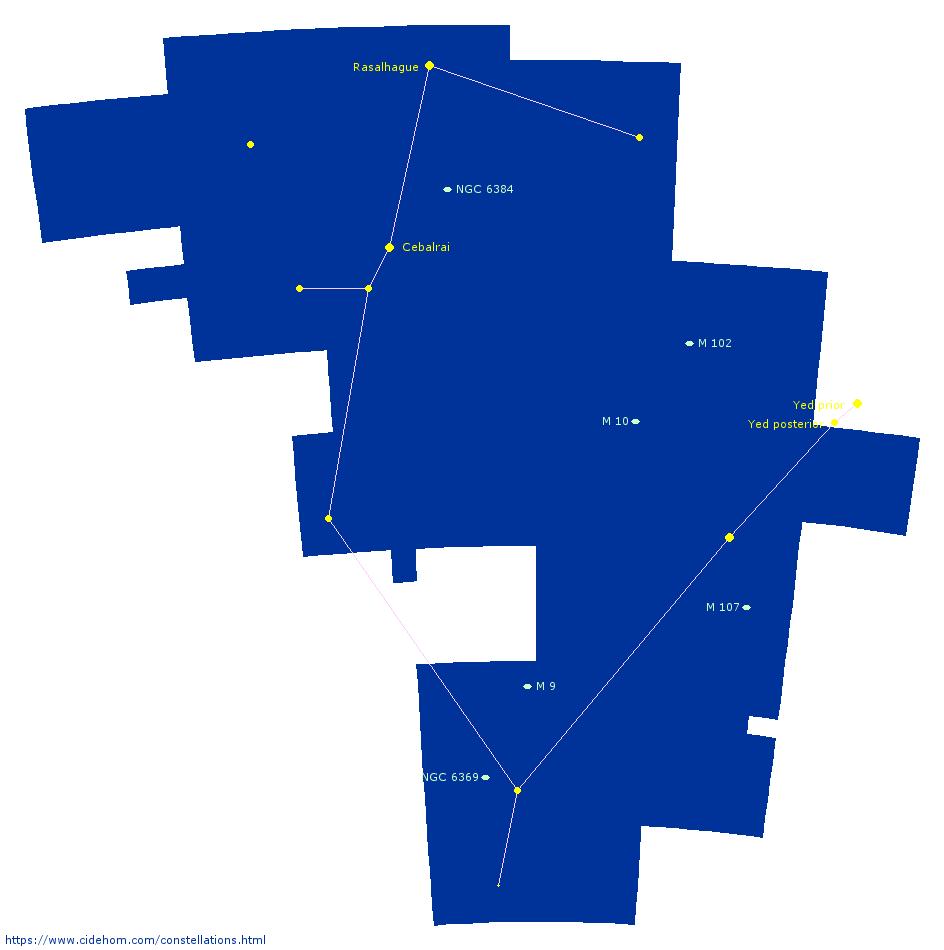 Constellation du Serpentaire