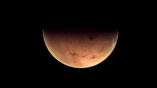 La planète rouge vue par la sonde Mars Express en 2012