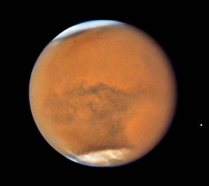 La planète Mars vue par Hubble le 18 juillet 2018, tout près d\'une opposition particulièrement favorable