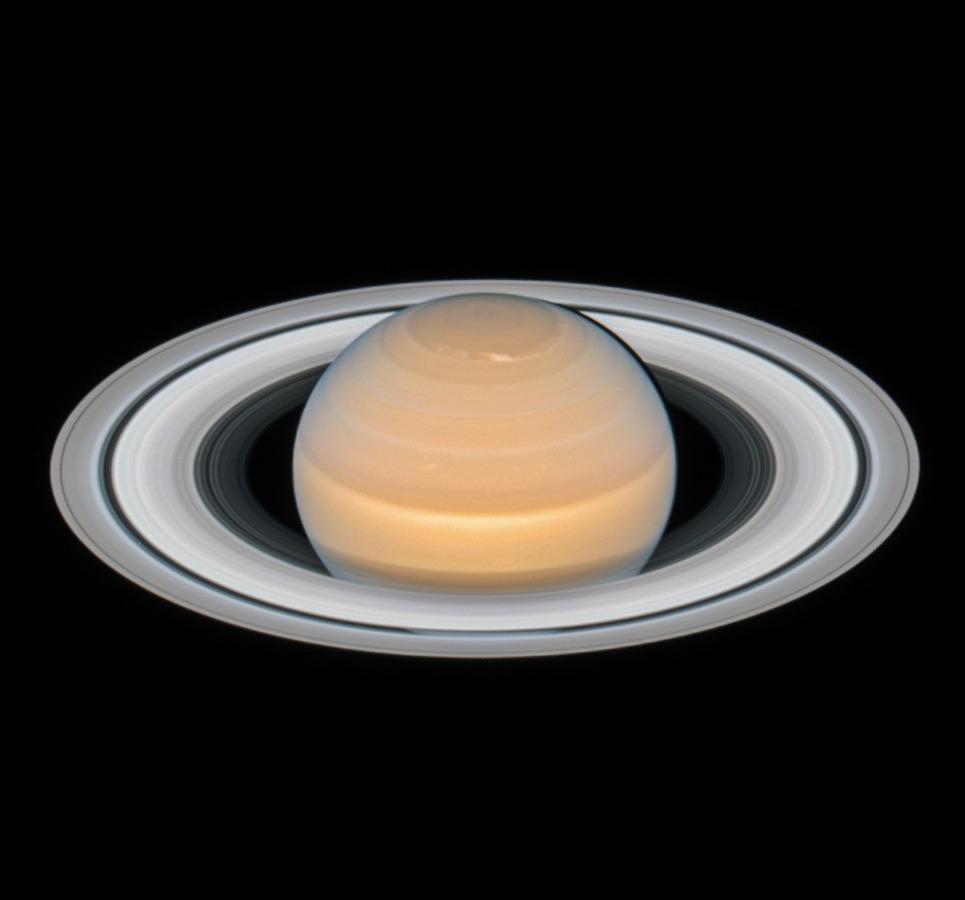 La planète Saturne vue par Hubble le 6 juin 2018