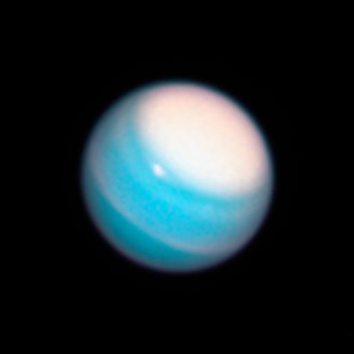 Uranus vue par Hubble en 2018